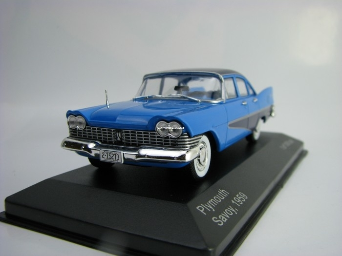 Plymouth Savoy 1959 Blue 1:43 White Box
